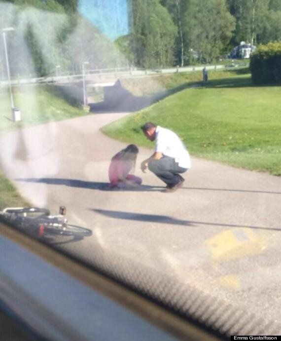 Bus Driver Halts Vehicle To Comfort Weeping Child On Roadside