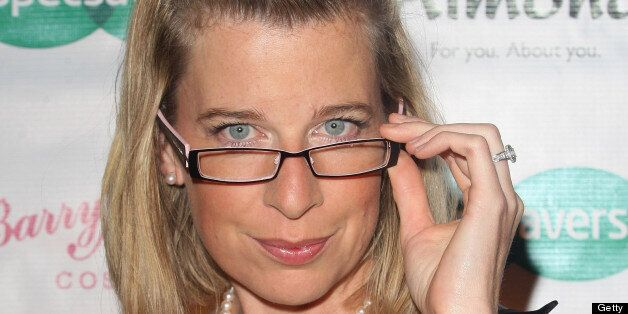 Katie Hopkins attends the Specsavers Spectacle Wearer Of The Year 2009 Grand Final at Victoria & Albert...
