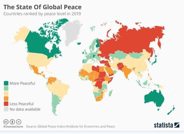 Οι πιο ειρηνικές χώρες του κόσμου – Σε ποια θέση βρίσκεται η