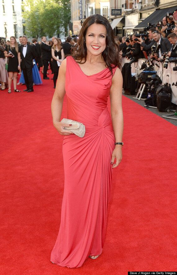 Susanna Reid Channels Old School Glamour To Host The UK Fashion & Textile Awards
