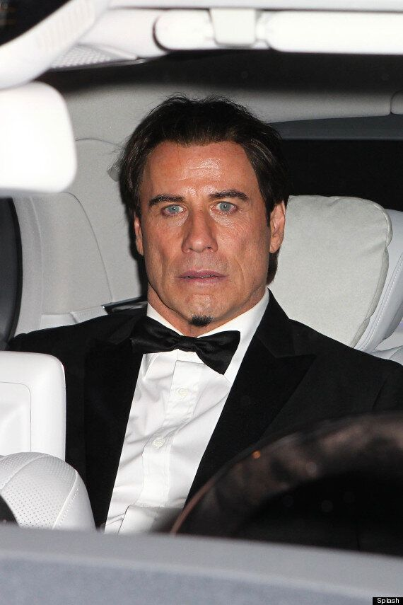 John Travolta Sports The Smallest Beard In The World As He Parties With Kylie Minogue And Justin Bieber...