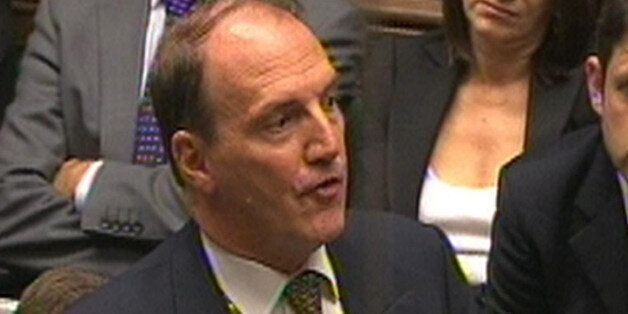 Simon Hughes MP speaks in the House of Commons after Prime Minister David Cameron made a statement on...
