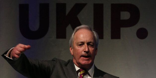 TORQUAY, ENGLAND - FEBRUARY 28: UKIP campaign director Neil Hamilton speaks at the UKIP 2014 Spring Conference...
