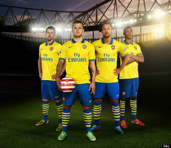 buy online e0a64 0d134 Arsenal Away Kit Launched By Gunners Brit Pack (PICTURES ...