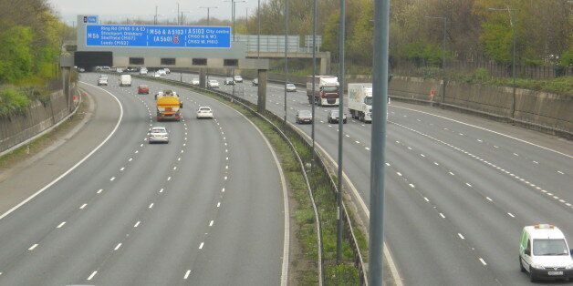 Neal Marshall was seen masturbating as he drove naked on the M56 (file