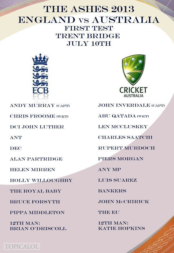 The Ashes 2013: Full England And Australia Squad Line-Ups