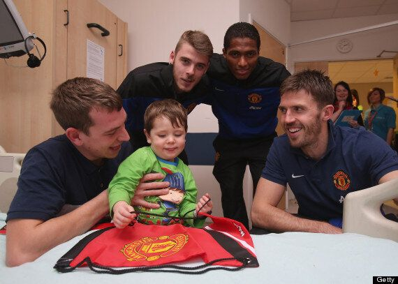 Manchester United Players Visit Children In Hospital