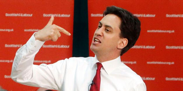Labour Leader Ed Miliband during a public meeting with local community activists and undecided voters...