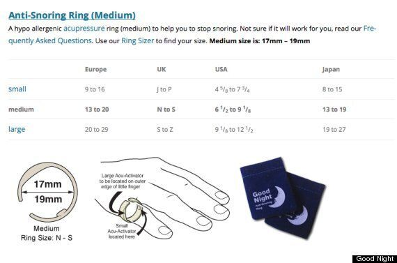 How To Stop Snoring 30 Acupressure Ring Claims To Reduce Nightly