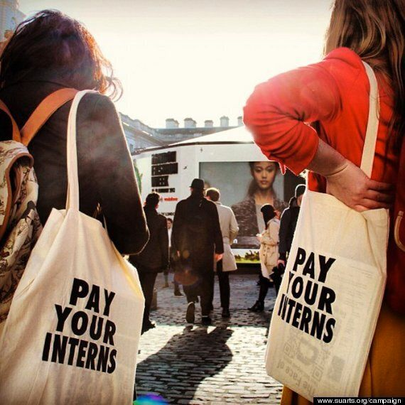 Pay Your Interns Bag Campaign By Student Union of University of Arts