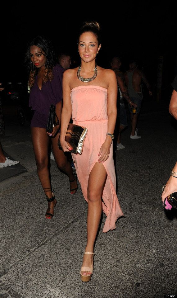 Chelsee Healey Takes Style Tips from Tulisa In Cut-Away Jumpsuit In Ibiza