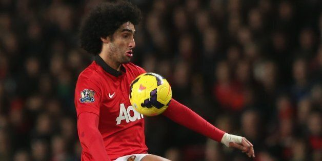 MANCHESTER, ENGLAND - DECEMBER 04: Marouane Fellaini of Manchester United in action during the Barclays...