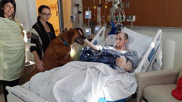 Cancer Patient Mike Petrosino Says Final Goodbye To Beloved Dog Rusty