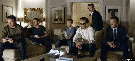 David Beckham Multiplied By Six In New Sky Sports Advert