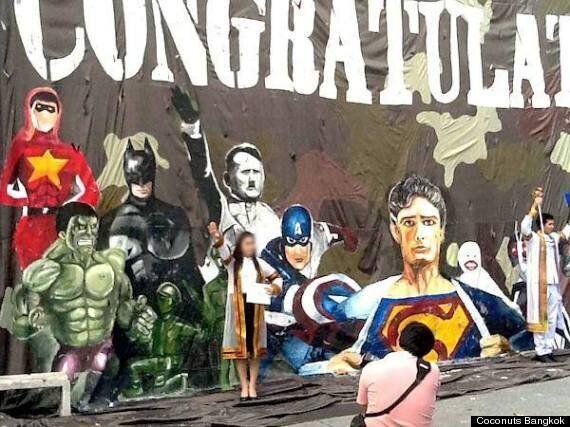 Thai University Apologises For Hitler Portrait In Superhero