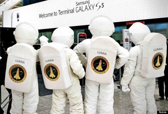 Heathrow PR Stunt Wars: Samsung Vs. Lumia Escalates Yet