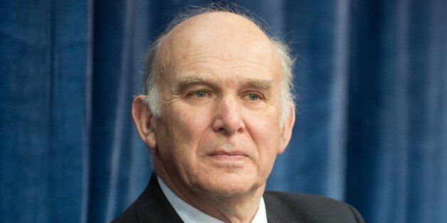 British Business Secretary Vince Cable attends the media launch of the Mars Yard test area at Airbus...