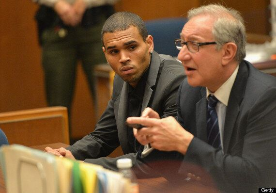 Chris Brown Parties At The Playboy Mansion Hours After Court Appearance