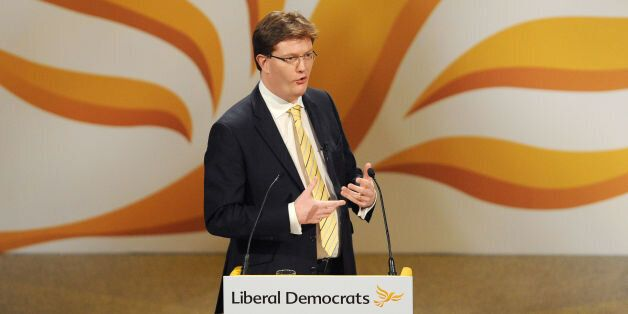 Chief Secretary to the Treasury Danny Alexander speaks during the Liberal Democrat Spring Conference...