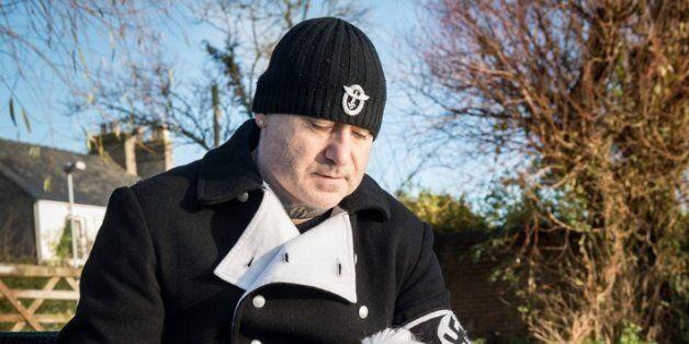 Paul Dutton, 'Asda Nazi', Shows Off His Fascist Four-Legged Friend, His Dog,