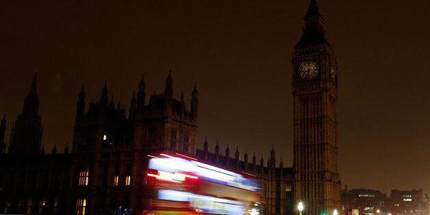 A view of Big Ben and the Houses of Parliament which went dark for an hour tonight as the UK took part...