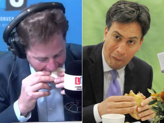 Nick Clegg Shows Ed Miliband How To Eat A Bacon Sandwich (PICTURE)