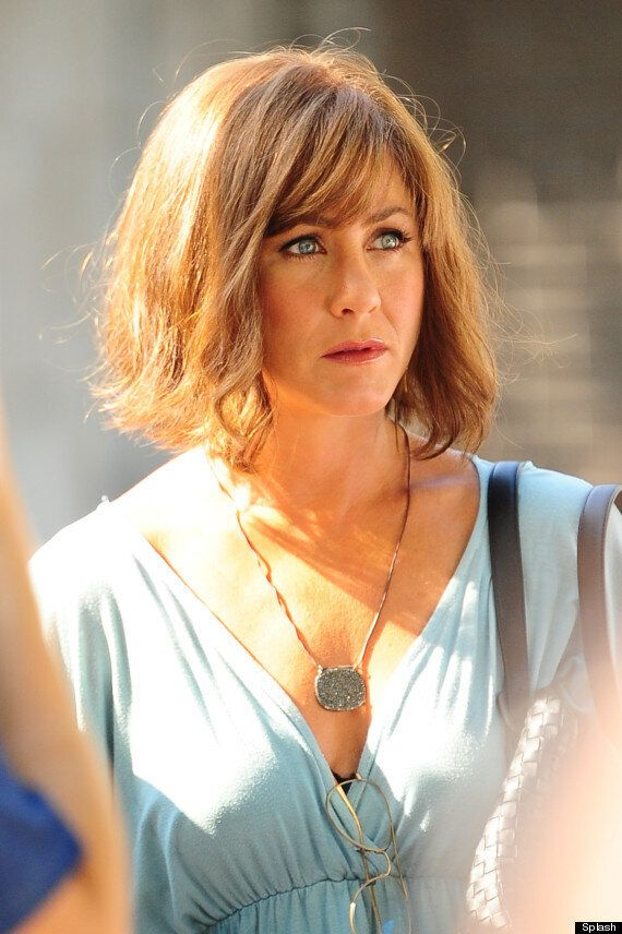 Jennifer Aniston Swaps Long 'Rachel' Hair For Short Bob On Set Of 'Squirrels To The Nuts' (VIDEO,