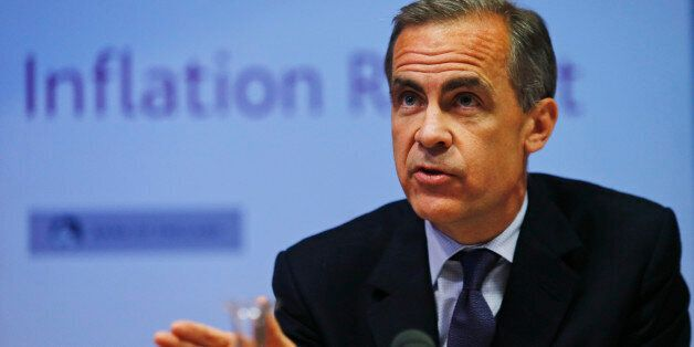 LONDON, ENGLAND - MAY 14: Mark Carney, the Governor of the Bank of England, speaks during a news conference...