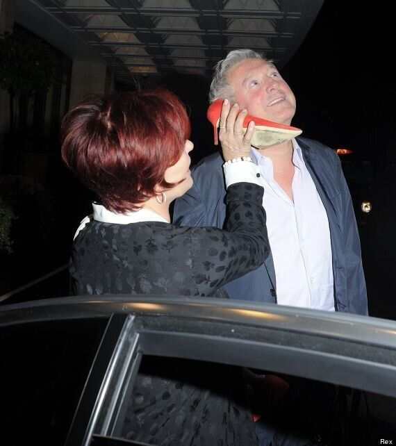 Sharon Osbourne And Louis Walsh Cause Mischief With A Shoe On 'X Factor' Night Out