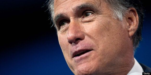 Former US Republican presidential candidate Mitt Romney speaks at the Conservative Political Action Conference...