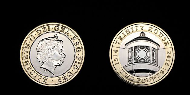 A new £2 coin featuring Trinity House which will go into circulation on 1st January 2014 at the Royal...
