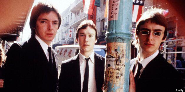 The Jam 1977 Bruce Foxton, Rick Buckler and Paul Weller (Photo by Chris