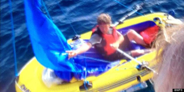 The hapless sailor had two paddles, one of which was being used as a