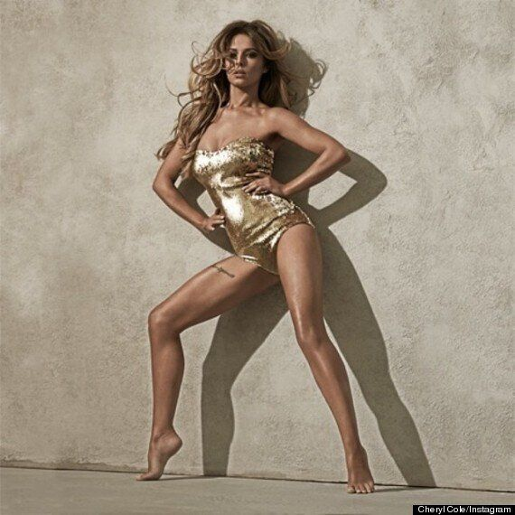 Cheryl Cole 'Crazy Stupid Love': Singer Flashes The Flesh In Sparkly Gold One-Piece To Promote New Single...
