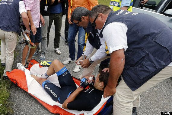 Jack Bauer Barbed Wire Accident: Tour De France Cyclist Has Face Cut After