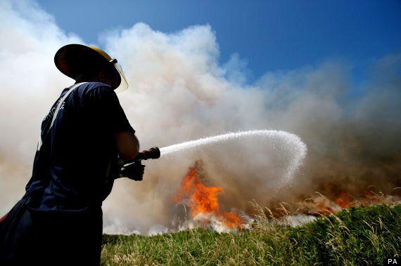 Wildfires Strike Around Britain And Ireland As Heatwave