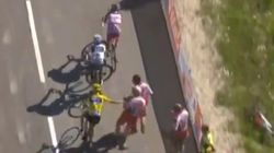 WATCH: Froome Lashes Out Fan At Tour De France Fan
