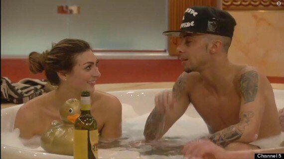 'Celebrity Big Brother': Luisa Zissman And Jasmine Waltz Share Bathtime Snog