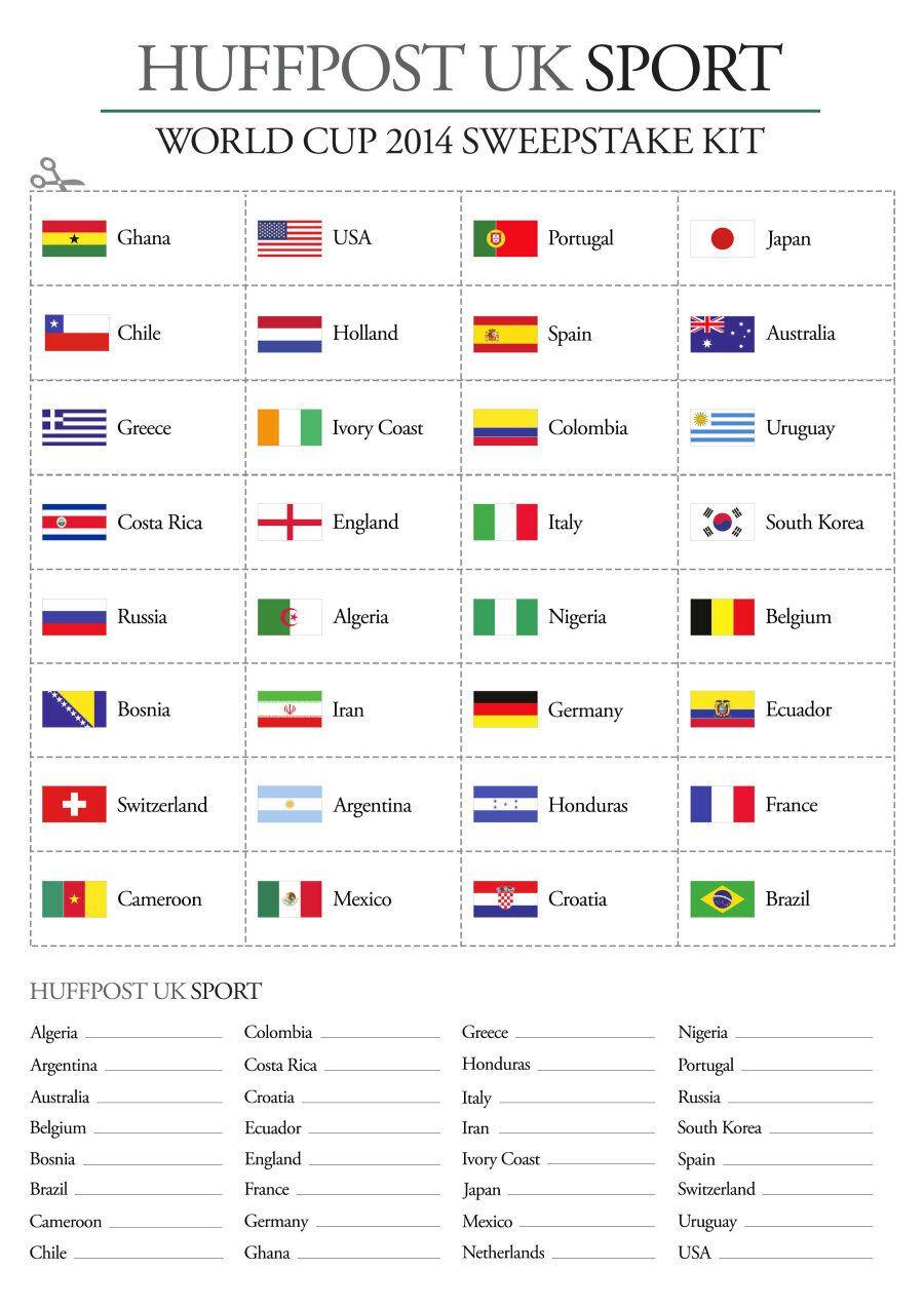 World Cup 2014 Sweepstake