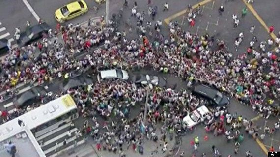 Pope Francis Mobbed By Crowds In Rio De Janeiro, Brazil