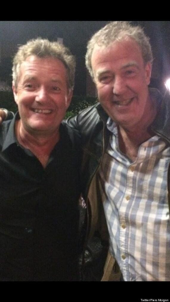 Have Piers Morgan And Jeremy Clarkson Finally Made Up? Smiley Twitter Pic Suggests They Might Have Buried...