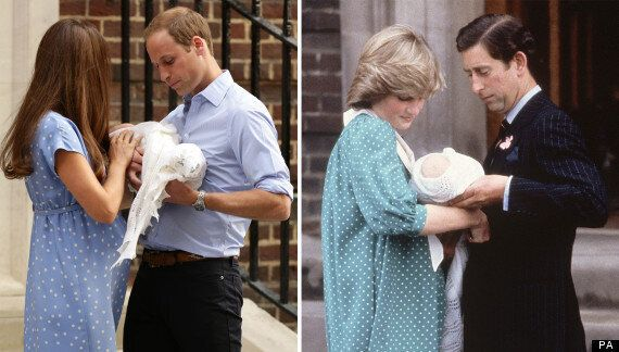 Royal Baby: Kate Middleton Wears Polka Dot Dress Just Like Diana Did After William's Birth