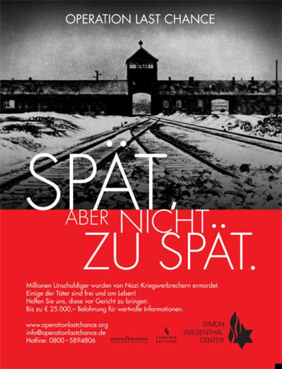 Nazi Hunter Poster Campaign To Track Down Last Surviving War Criminals