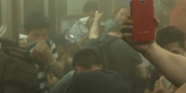 Horrifying Video Shows New York Subway Train Filling Up With