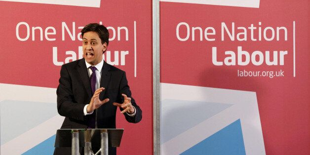 Ed Miliband delivering a speech on One Nation Politics, at The St Bride Foundation in Fleet Street,