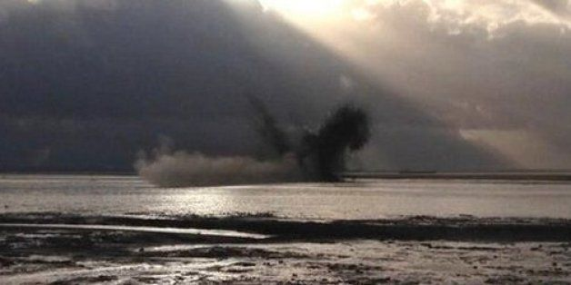 WWII Bombs Washed Up On Essex Beach At