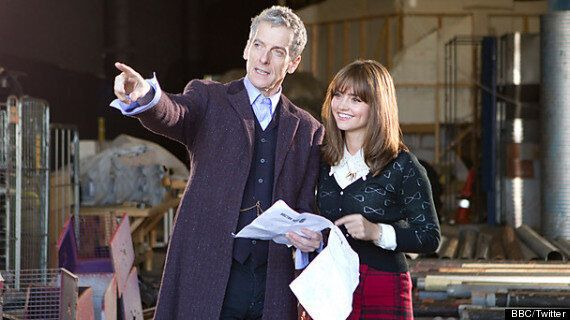'Doctor Who': Peter Capaldi Pictured On Set For First