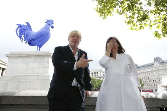 Boris Johnson In Trafalgar Square With A Massive Blue Cock And Disgruntled