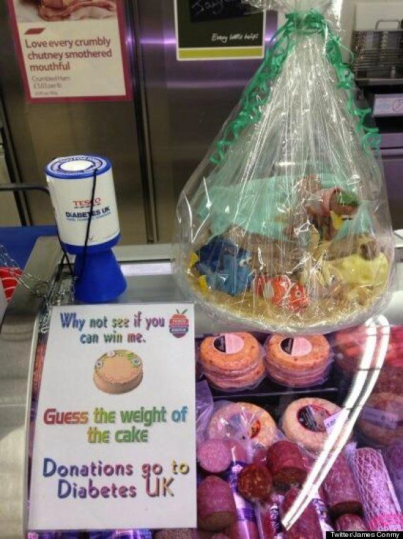 Tesco's 'Guess The Weight Of The Cake' Proceeds Go To Diabetes