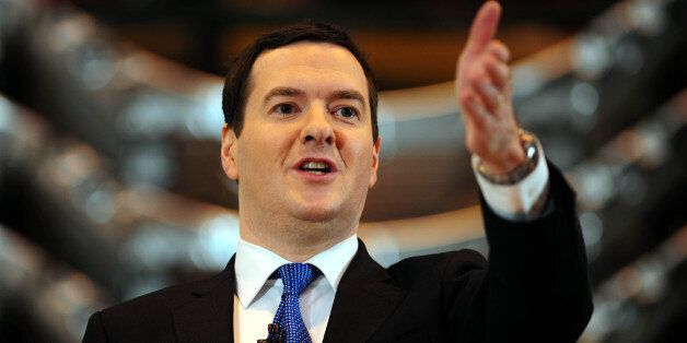 Chancellor George Osborne gives a speech on the economy during his visit to manufacturing company Sertec,...